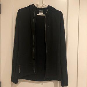 Men's quantum long sleeve zip hood in size S